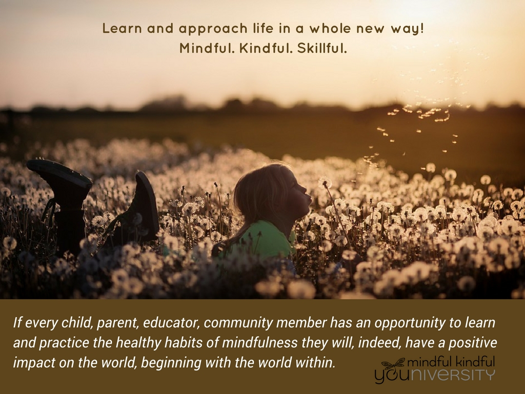 learn and approach life in a whole new way - mindful, kindful, skillful ~ Mindful Kindful YOUniversity
