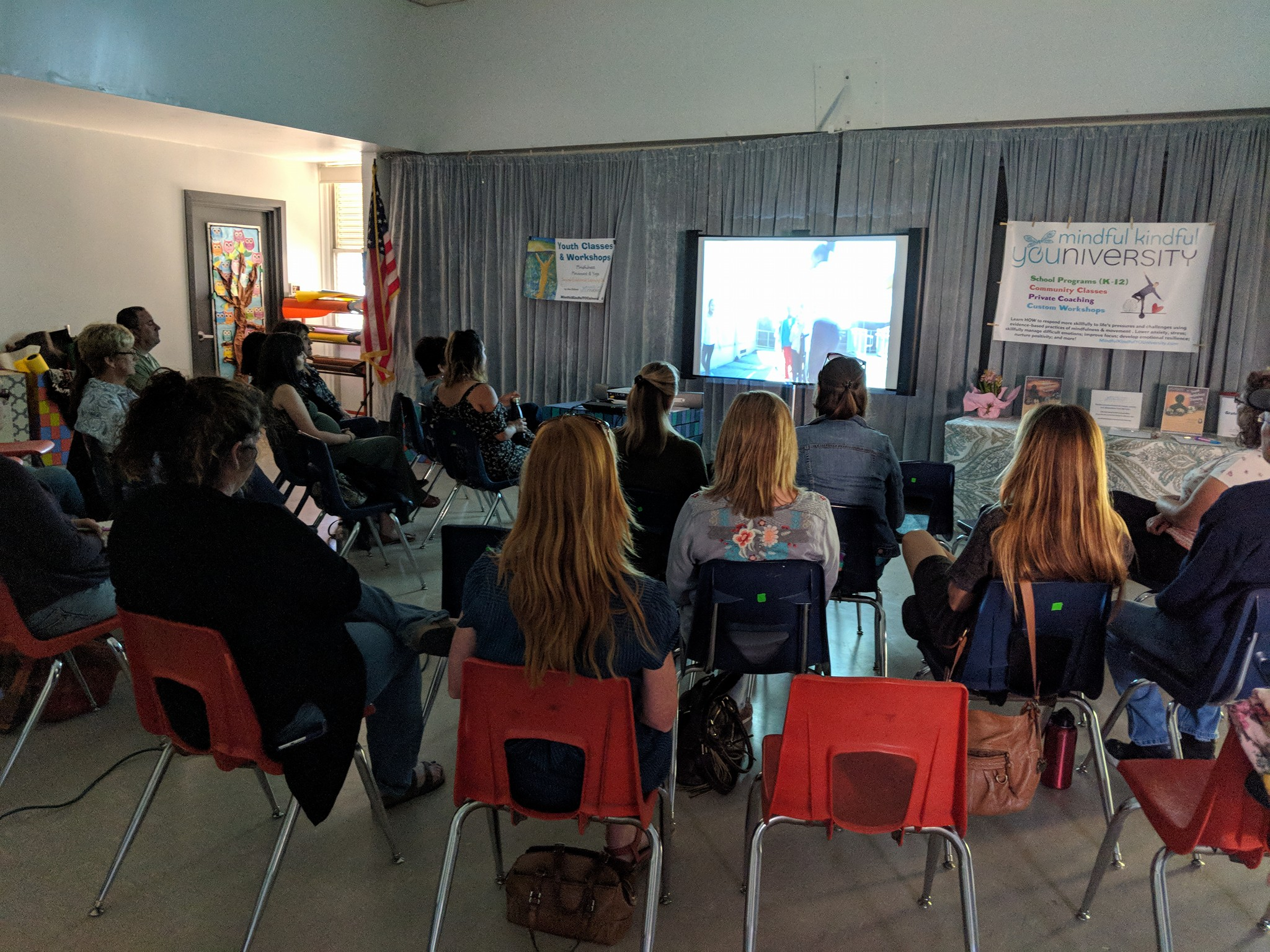 film screening at school with Dee DiGioia - (c ) Dee DiGioia, Mindful Kindful YOUniversity