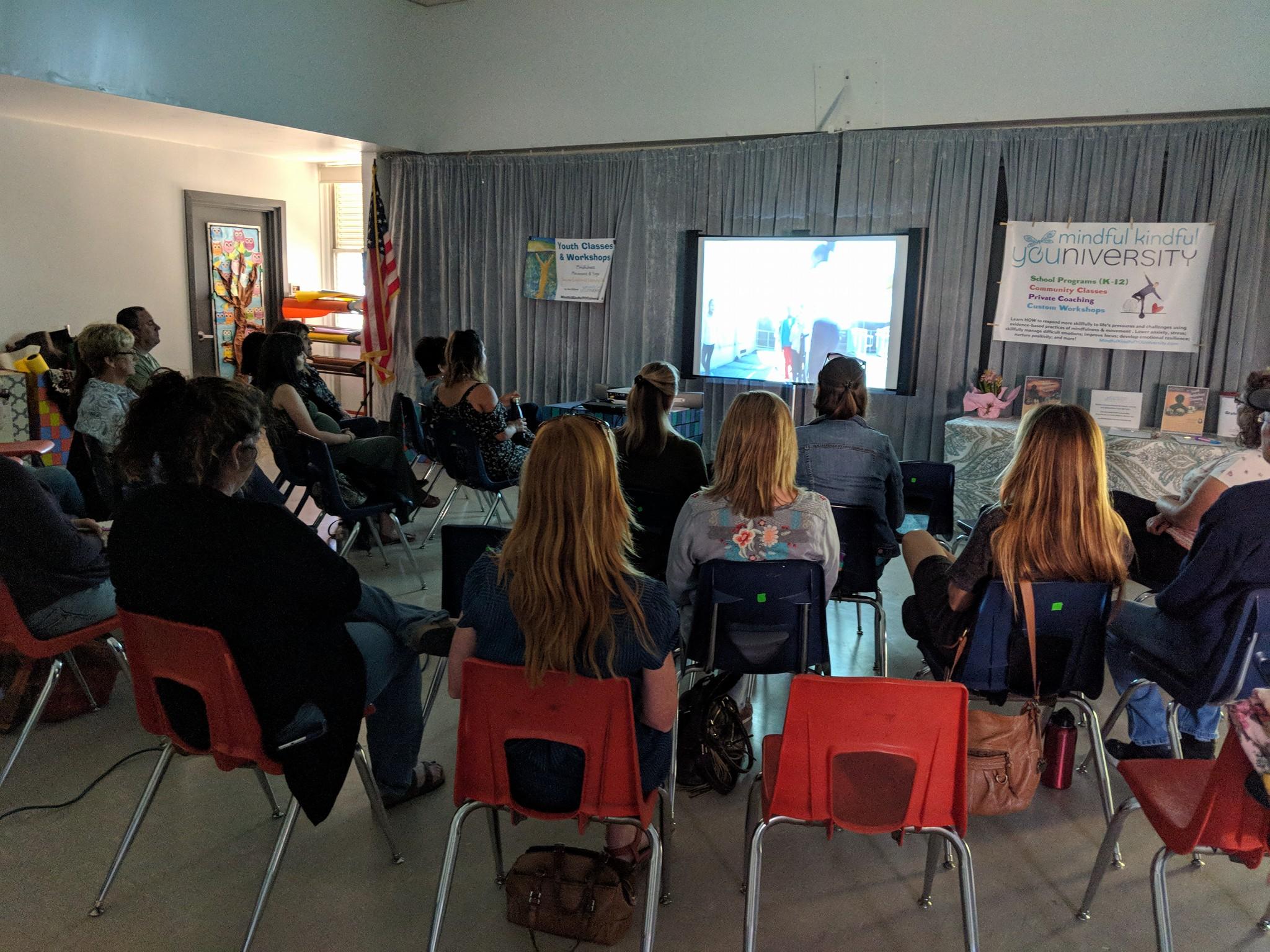 film screening at school with Dee DiGioia - (c ) Dee DiGioia, Mindful Kindful YOUniversity